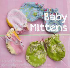 @Angela Gray Gray Blakelock DIY Baby Mittens-