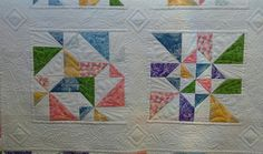 custom quilted, pattern is called Chopped