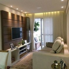 Decoração sala Small Living Room Layout, Living Room Designs, Flat Interior, Interior Design, Basement Family Rooms, Living Room With Fireplace, Ceiling Design, Small Apartments, Luxury Living