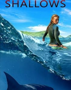When Nancy is surfing on a secluded beach, she finds herself on the feeding ground of a great white shark. Though she is stranded only 200 yards from shore, survival proves to be the ultimate test of wills, requiring all of Nancy's ingenuity, resourcefulness, and fortitude. The Shallows Movie, Republic Pictures, 200 Yards, Secluded Beach, Great White Shark, Columbia Pictures, Weimaraner, Movie Trailers, Thriller