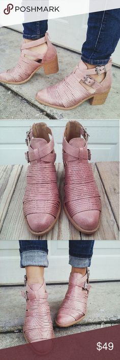 //The Hailey// Blush Distressed ankle boots Brand New Never been worn Comes in original box No trades!! Price is FIRM!! Many more Sizes Available  True to size Shoes Ankle Boots & Booties