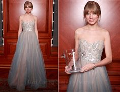 i LOVE taylor swift's bangs and her dress here, so beautiful!