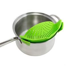 Kitchen Dining & Bar Extras Silicone Clip-On Snap And Strainer Clip Colander