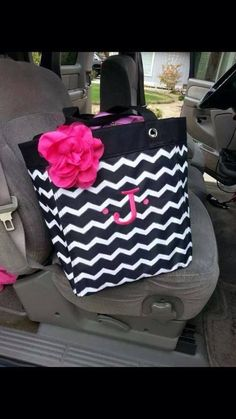 Love the pink on the Black Chevron!!
