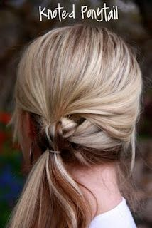 Knotted Ponytail!  Cute!