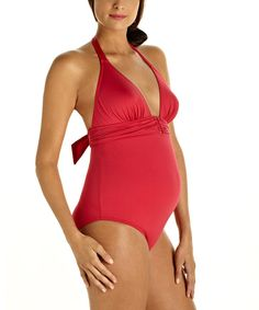 Look what I found on #zulily! Pez D'Or Raspberry Maternity One-Piece - Women by Pez D'Or #zulilyfinds