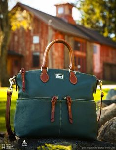 Dooney & Bourke. I love the pebbled leather they use. It feels so good under your fingers.