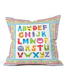 DENY Designs Alphabet Monsters Throw Pillow | zulily