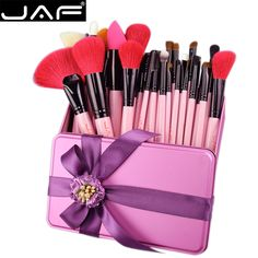 JAF Natural Hair 32 PCS/SET Makeup Brushes with Gift  Box for Birthday, Valentine's Day Gifts Make Up Brush Set J32GR-P