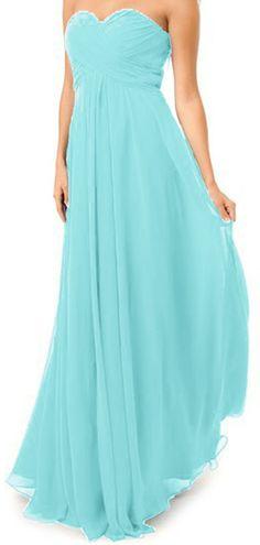 *maillsa chiffon strapless bridesmaid evening cocktail prom dress PP353 | Amazon.com