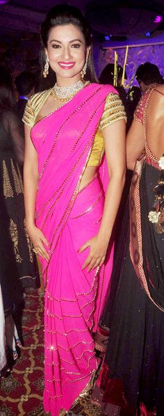 Gauahar (Gauhar) Khan at a sangeet ceremony. #Bollywood #Fashion #Style #Beauty