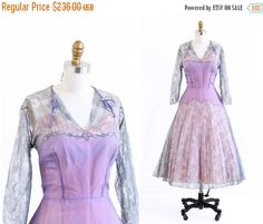 End of Year SALE vintage 1950s dress / 50s dress by RococoVintage