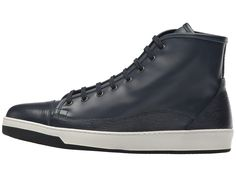 BUGATCHI Livorno Sneaker Men's Lace up casual Shoes Navy