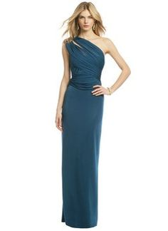Sheath Column One Shoulder Taffeta Dress