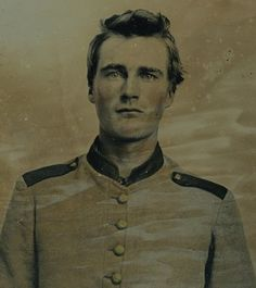 Unidentified Confederate Soldier...wish you weren't so attractive, would've been better for you to be in the Union.  Nice looking young man.  I wonder if he made it through the war?