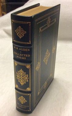 1978 Franklin Library limited edition W H Auden Collected Poems leather  mint