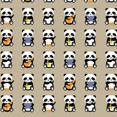 a band o' pandas fabric by bubbledog on Spoonflower - custom fabric