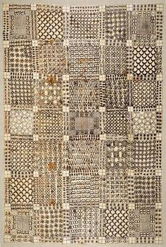 nobrashfestivity:  Africa Asante Wrapper. Ghana , mid to late 19th century