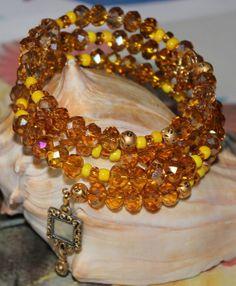 Ochun Oshun inspired modern bracelet by ModernOrisha on Etsy, $15.00