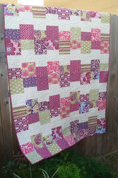 Shades of Royalty Heirloom Throw Quilt with fabric by Joel Dewberry  -  This is just beautiful!!