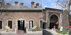 Markets of Bursa - (left) Entrance to Koza Han: Built by Sultan Bayezid II in 1490. (right) One of the entrances to the Great Bazar.