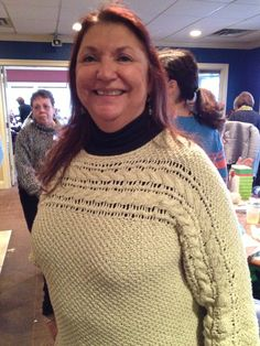 """Niche from worn by Kathy at the """"Ladies Day at the Club Knit-Along"""" Ladies Day, Turtle Neck, Club, Pullover, Knitting, Lady, Crochet, Pattern, Sweaters"""