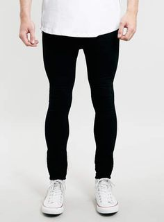 TOPMAN - Black Spray On Skinny Jeans