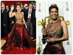 Halle Berry wore is gorgeous Elie Saab gown back at the 2002 Oscars.