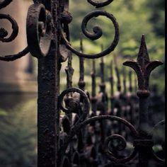 Black iron gates give fallen angels strength