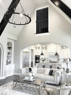 Cathedral ceiling Chandelier. Living room Cathedral ceiling Chandelier…