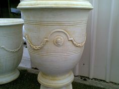 Round Concrete Planters and Pots
