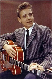 "Ray Edward 'Eddie' Cochran (October 3, 1938–April 17, 1960) was an American rock and roll pioneer who in his brief career had a lasting influence on rock music. Cochran's rockabilly songs, such as ""C'mon Everybody"", ""Somethin' Else"", and ""Summertime Blues"", captured teenage frustration and desire in the late 1950s and early 1960s."