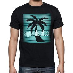 #AguadeAlto #beach #palms #tshirt #men  Agua de Alto beach is calling! Get yours here --> https://www.teeshirtee.com/collections/black-palm-collection/products/agua-de-alto-beach-holidays-in-agua-de-alto-beach-t-shirts-mens-short-sleeve-rounded-neck-t-shirt