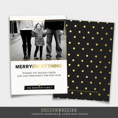 Holiday Card Template  Photoshop Elements Template  Photographer