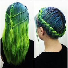 Isn't this braided hairstyle fabulous? More hair inspiration here: www.hairchalk.co