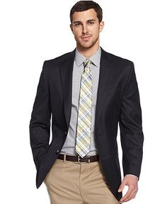 Michael by Michael Kors Jacket, Solid Blazer - Blazers & Sport Coats - Men - Macy's