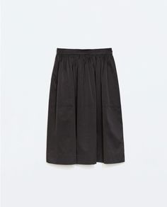 ZARA - WOMAN - TAFFETA MIDI SKIRT Zara New, Black Midi Skirt, Built In Wardrobe, Office Attire, Zara United States, Zara Women, Summer Outfits, Spring 2015, Woman