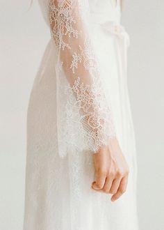 Silk wedding dress // Amalthea / Lace wedding gown, summer wedding dress, bohemian wedding, boho style dress, open back bridal gown Boho Wedding, Dream Wedding, Wedding Day, Bridal Gowns, Wedding Gowns, Honey Lace, Elizabeth Messina, Lace Sleeves, Bridal Style