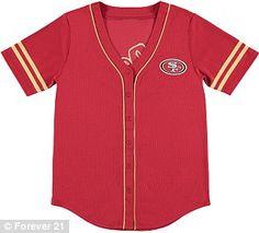 NFL 49ers Baseball Jersey by Forever 21, $24.90; forever21.com