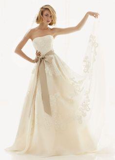 Melissa Sweet Satin Organza and Lace Wedding Dress Style AI25050064