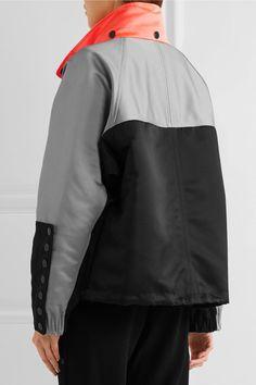 Alexander Wang | Oversized color-block satin-twill jacket | NET-A-PORTER.COM
