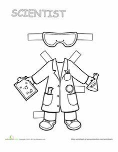 Worksheets: Career Paper Dolls: Scientist