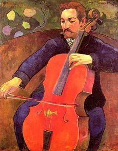 Paul Gauguin - The Cellist (also known as Portrait of Fritz Scheklud), 1894