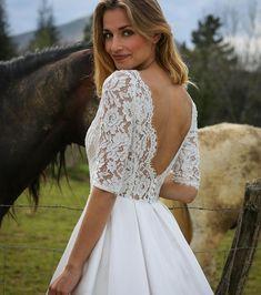 Robe de mariée courte dos nu -Marie Laporte