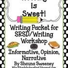 This is a Common Core writing bundle that is based on the format of SRSD/Writer's Workshop. Informative, Opinion, and Narrative writing for the fir...