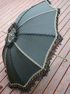 Steampunk Black and Gold Parasol