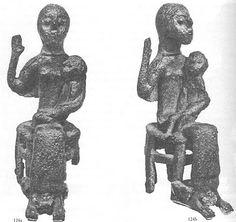 Quotidiano di storia e archeologia: Bronzetti nuragici - Le madri con bambino