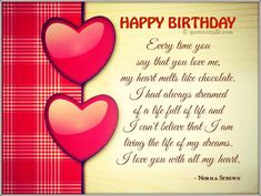 Happy Birthday Romantic Lovely Wishes Cards Messages For Boyfriend Girlfriend