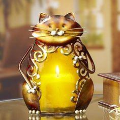 DecoFlair Cat Candle Holder Luminary