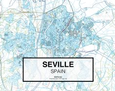 Sevilla - Spain. Download CAD Map city in dwg ready to use in Autocad. www.mapacad.com